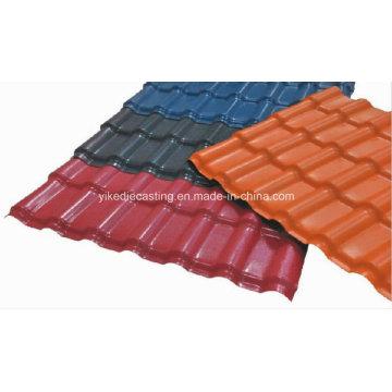 Brick Red Anti-Corrosion Asa Resin Glazed Tile for Roof