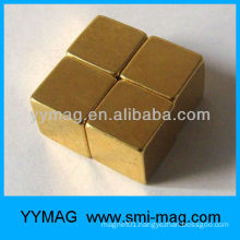 Gold plated neodymium magnet