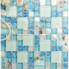 Mosaico de vidrio con azulejos de natación bellamente estampados