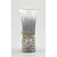 High Glass Vase with Beautiful Jute Rope