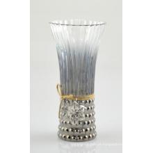Alto, vidro, vaso, bonito, juta, corda