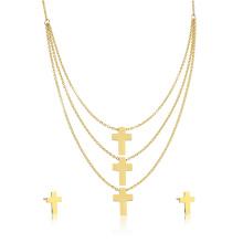 High Fashion afrikanischen Schmuck Set Dubai 18 Karat Gold Kreuz Schmuck-Set