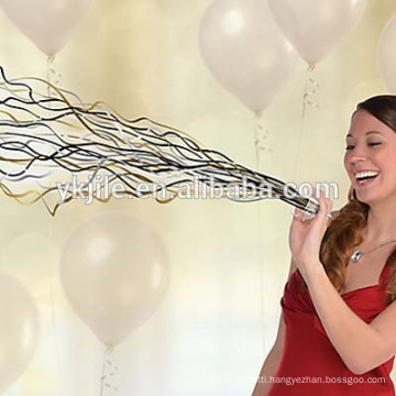 Black, Gold and Silver No Mess Streamers