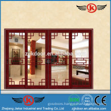 JK-AW9117 Best Appearance Four Glass Panel Interior Door