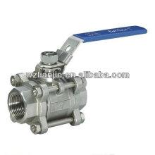 3pc inox robinet à tournant sphérique TNP vis se termine wich Locking Device, CF8M 1000 PSI