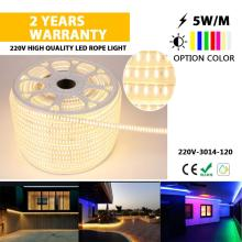 lumière de corde LED de taille mince pour outsidw