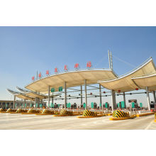 Station de péage avec large toit métallique d'occasion Panneau galvanisé Acier léger