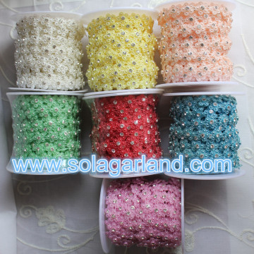 10 Yard pro Roll Blume Strass Blume Band