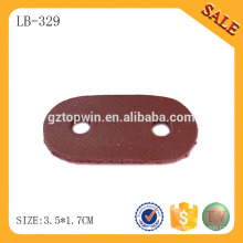 LB329 China leatherware factory produces PU synthetic brown leather label patch for hats