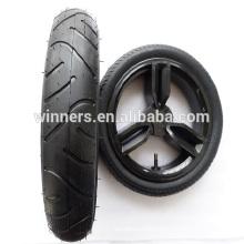 280x65mm pneumatic rubber wheel , wide wheel , hard rubber wheels