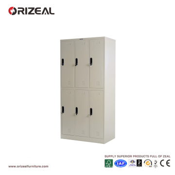 Orizeal Six Door Clothes Steel Locker (OZ-OLK005)