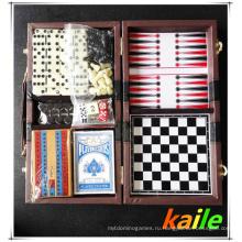 6 В 1 большой Игровой набор с кожаной коробке