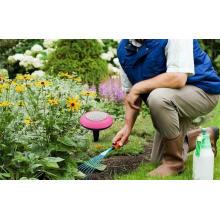 Садовый светильник с динамиком для садовника