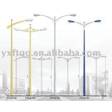 6-12meters solo o brazo doble poste de la lámpara de la calle