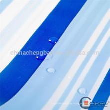 Cortina impermeable transparente de la tira del pvc del cuarto de baño