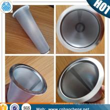 Cafetera de filtro de 100 micras de 150 micras de acero inoxidable filtro de café cafetera
