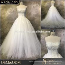 De primera calidad con precio al por mayor acanalado vestido de novia acanalada para las mujeres de grasa