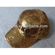 2014 fashion custom embroidery gold baseball cap