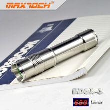 Maxtoch ED6X-3 inox lanterna alumínio barato Mini lanterna LED