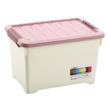 Recipiente de caixa de armazenamento de plástico de tamanho grande com rodas