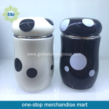 Black and White Pot Stainless Steel Thermos Flask