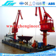 Ftt Floating Barge Unloading Terminal Four Link Crane 30t