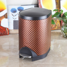 Diamond Design Leather Slow Down Close Noiseless Garbage Bin (S-8LL)