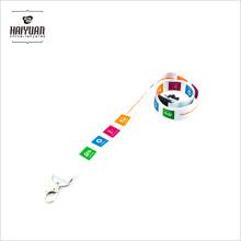 Hochwertige benutzerdefinierte umweltfreundliche Polyester Material Lanyard mit Logo