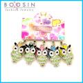 Cute Night Owl Rhinestone Bracelet Charm for Promotional Gift #18346