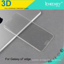 3D Full Cover Anti-Scratch gehärtetes Glas Skin Aufkleber für Samsung S7 Rand transparent