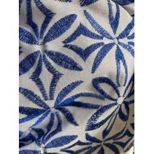 tejido de bordado de diseño satinado teñido con hilo metálico