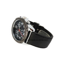 Мужские спортивные силиконовые наручные часы с движением кварца Японии