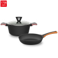 New design long handle large aluminium non-stick large frying pan