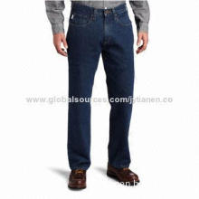 Men's Relaxed Fit Straight Leg Jeans, Factory Price, OEM and ODM Orders are Welcome