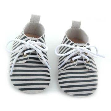 New Styles Stripe Leather Baby Oxford Shoes Wholesale