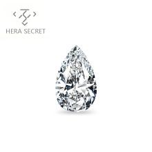 ForeverFlame G H 10ct VVS1 Pear Cut huge diamond CVD CZ Moissanite  Angel's tears jewelry