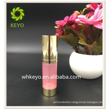 15ml Hot sale high quality pink colored empty cosmetic container airless plastic pump bottle