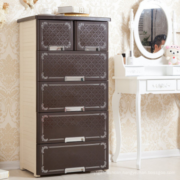 Fashion European Style Plastic Drawer Cabinet for Home (NA-5868)