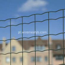 Ciemnozielony PVC Coated Security Euro Fence