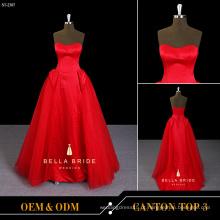 Vestido de festa vestido de cetim vestido de baile vestido de noite vestido vermelho para senhoras jovens