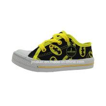 Zapatillas de deporte de los zapatos de lona de los niños de la impresión de Lips (5122-S & B)