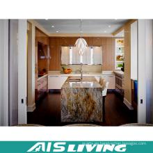 Gabinete de cocina y gabinete de cocina de encargo blanco esmaltado estilo francés (AIS-K712)