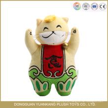 Boneca de pelúcia tradicional chinesa 25 centímetros brinquedo do gato sorte