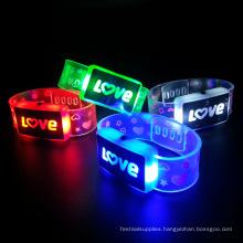 wedding decorataion led bracelet with love letter