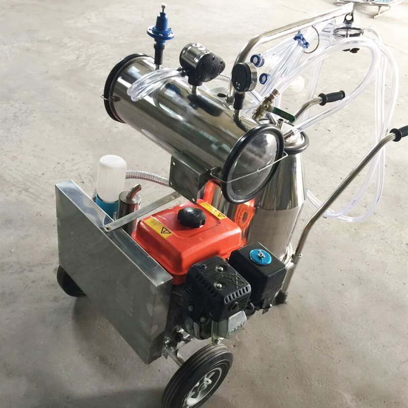 milking machine with vacuum pump and gasoline