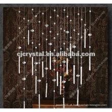2015 cortinas dos grânulos de vidro do cristal da forma no volume