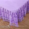 Lace border sand wash cotton korean bedding set , hotel bed spread