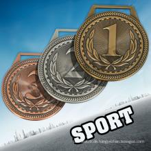 LC JUNIOR OLYMPICS kundenspezifische Medaillen kein Mindestbestellmedaillen und Trophäen und Medaillen Porzellansport / olympische Metallmedaille mit Band