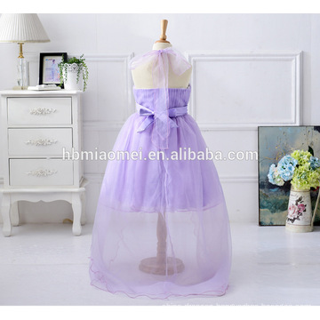 2017 new design flower girl dress short front long back baby girl party dress children frocks designs for western party wear