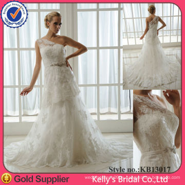 Модель KB13017 роскошные видеть сквозь одно плечо свадебные платья с поезд